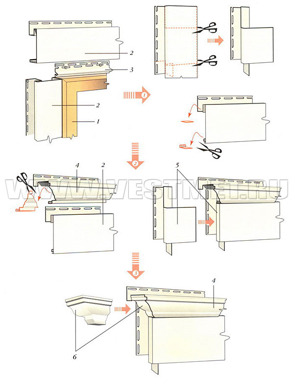 Установка молдингов на доски, состыкованные под прямым углом