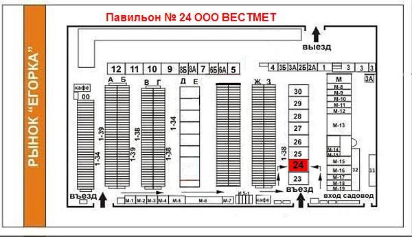 Схема проезда на рынок Егорка
