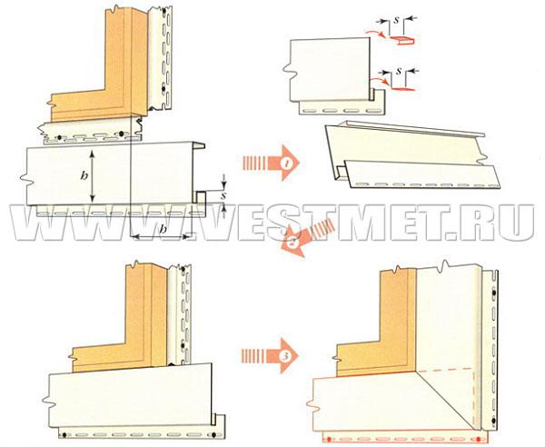 Монтаж нижних досок обрамлений оконных и дверных проемов