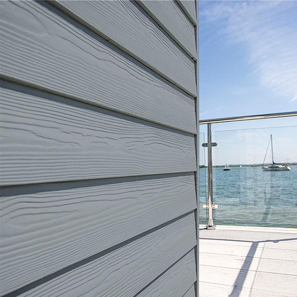 Фиброцементный сайдинг Cedral Wood цвет C62 Голубой океан фото и цена, купить сайдинг Кедрал в Москве