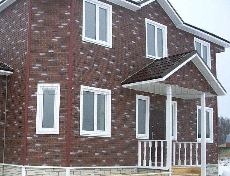 фото домов с отделкой фасадными панелями