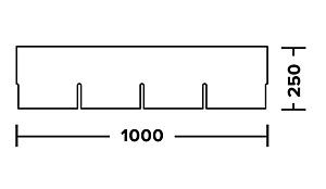 Гонт - схема и размеры