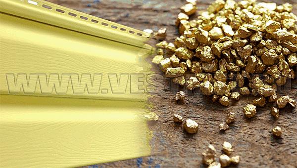 Новый цвет винилового сайдинга Гранд Лайн - Золотой Песок