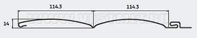 Характеристики сайдинга Винилон Блок-хаус D4.5