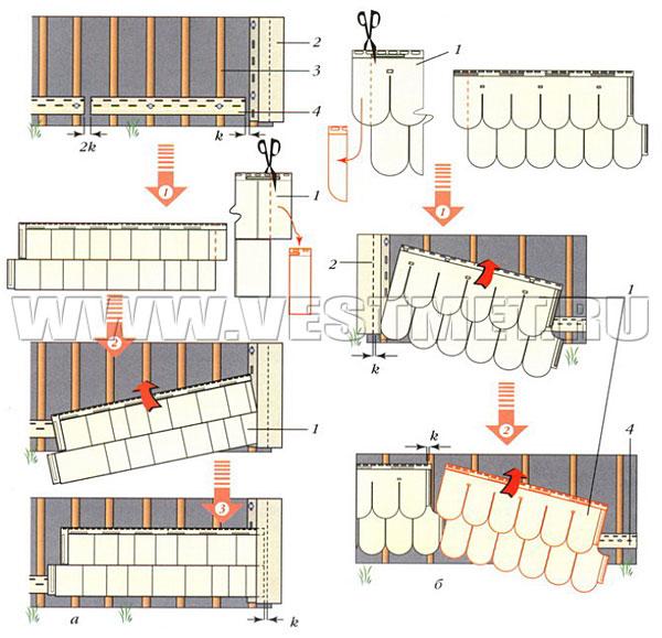 Установка рядовых панелей цокольного сайдинга
